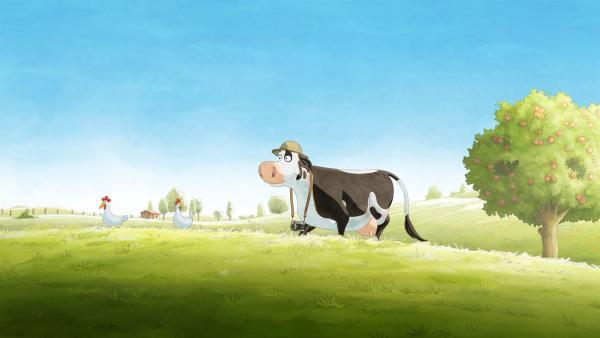 Lieselotte ist voller Vorfreude, kleine Tiere zu beobachten.   Rechte: ZDF/WunderWerk