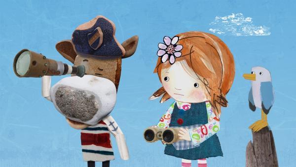 Salty und Lily fragen sich, ob sie Jette retten sollten.   | Rechte: KiKA/Sixteen South