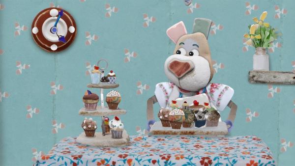 Alle bestellen Nonnas leckere Kuchen gleichzeitig. | Rechte: KiKA/Sixteen South