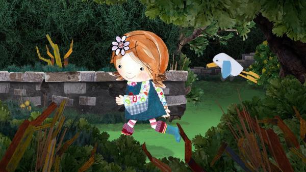 Lily und Pelle geraten in ein Labyrinth. | Rechte: KiKA/Sixteen South