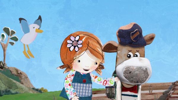 Salty will sich im Wald ein wunderbares Schauspiel ansehen. Lily bittet ihn, sie und die anderen mitzunehmen.  | Rechte: KiKA/Sixteen South