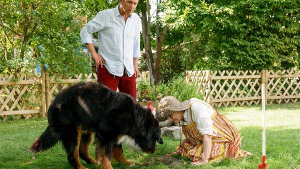 Fritz (Guido Hammesfahr) und Keks helfen Punilla (Katharina Thalbach) den Schatz zu finden. | Rechte: ZDF/Antje Dittmann