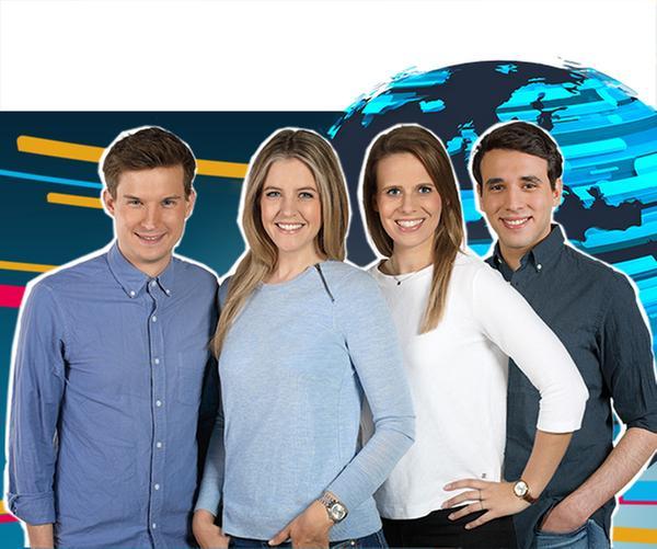 Tim Schreder, Jennifer Sieglar, Linda Fuhrich von der Sendung logo! Die Welt und ich. kopie | Rechte: ZDF/[m] Dirk Staudt, Jana Kay