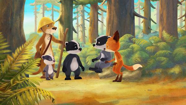 Lukas geht mit den Kindern in denWald, um eine süße Überraschung zu holen. | Rechte: WDR/Mediatoon