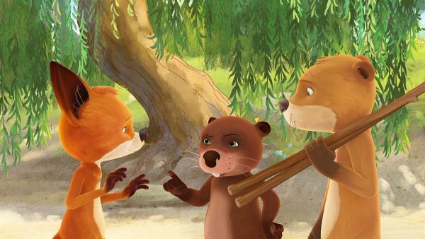 Rosie hat ihren neuen Brüdern das Geheimnis von Biva und Udo verraten, die beiden sind darüber nicht begeistert. | Rechte: WDR/Mediatoon
