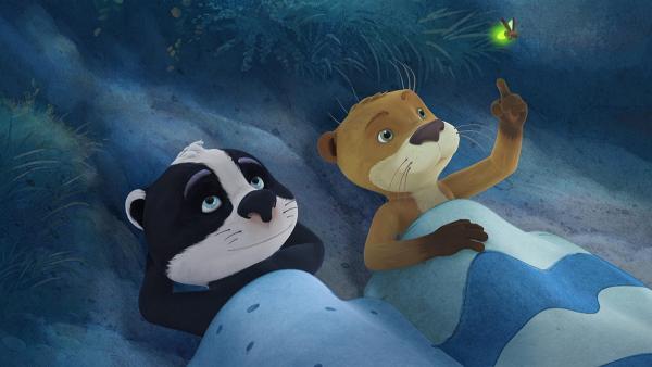 Luis genießt die Nacht im Wald mit seinem besten Freund Udo. | Rechte: WDR/Mediatoon