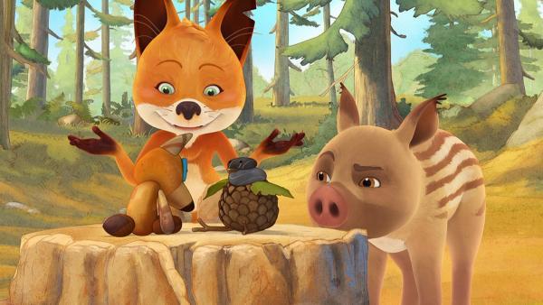 Rosie möchte den Teddy von Pico bekommen, ohne Matteos Geheimnis zu verraten. | Rechte: WDR/Mediatoon