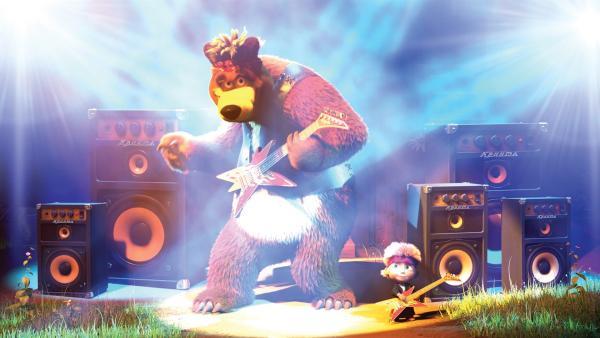 Der Bär hat verstanden, wie man die Frauen begeistert: mit Rockmusik! | Rechte: KiKA/2014-2015 Animaccord Ltd.