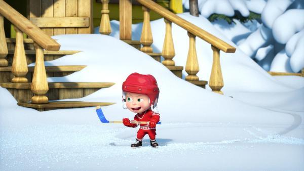 Mascha will Hockey spielen.  | Rechte: KiKA/Animaccord LTD