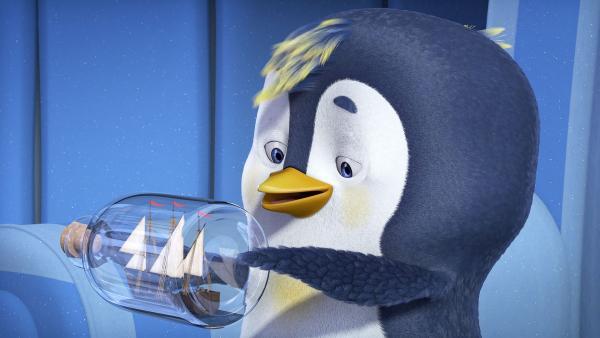 Der Pinguin und sein Buddelschiff.  | Rechte: KiKA/Animaccord LTD