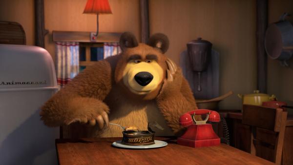 Der Bär wartet.  | Rechte: KiKA/Animaccord LTD