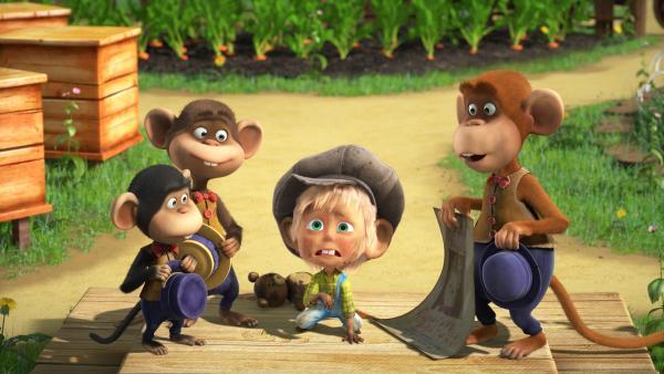 Mascha bei den Affen.  | Rechte: KiKA/Animaccord LTD