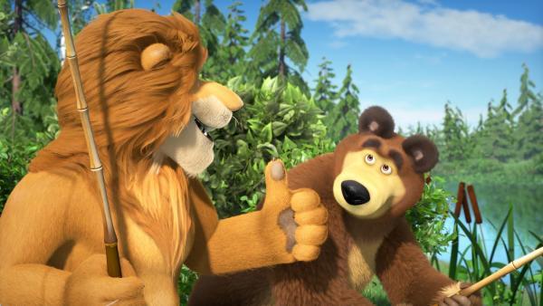 König Löwe genießt seine Freiheit.  | Rechte: KiKA/Animaccord LTD