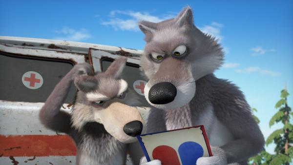 Ein rätsel für die Wölfe.    Rechte: KiKA/Animaccord LTD
