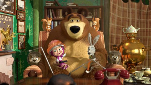 Nach der großen Renovierung wollen alle Fernsehen schauen. | Rechte: KiKA/Animaccord Animation Studio