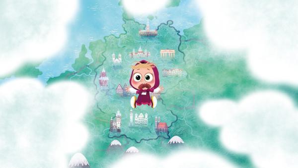 Mascha fliegt nach Deutschland. | Rechte: KiKA/Animaccord LTD 2008