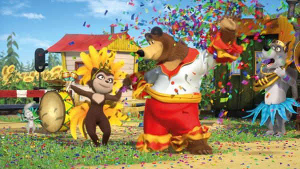 Rosita und der Bär tanzen. | Rechte: KiKA/Animaccord LTD 2008