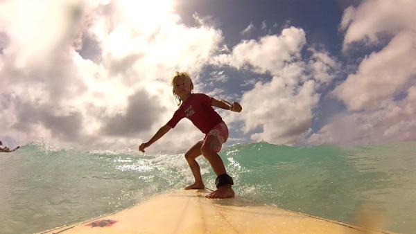 Merla beim Surfen | Rechte: SWR/Tonix Pictures GmbH