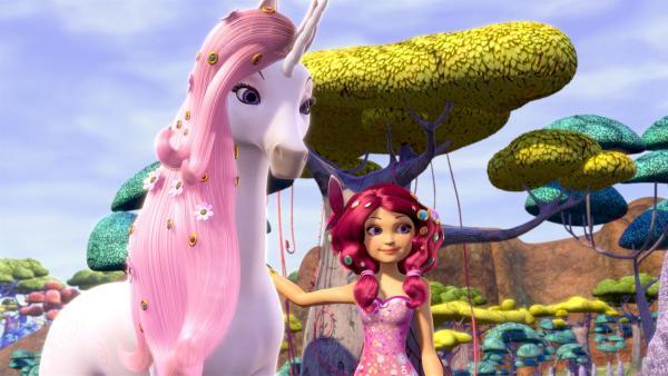In der Welt von Centopia ist Mia eine wunderschöne Elfe, die mit Einhörnern kommunizieren kann. | Rechte: ZDF/2012 Lucky Punch/Rainbow/March Ent.