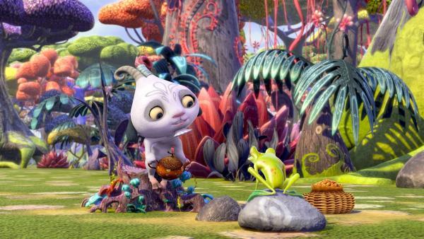 Phuddle probt die Tee-Zeremonie und möchte dabei auf keinen Fall gestört werden. | Rechte: ZDF/2012 Lucky Punch/Rainbow/March Ent.