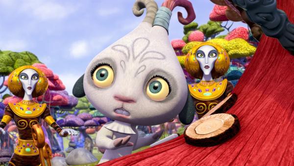 Phuddles neue Erfindung hypnotisiert die Munculus. | Rechte: ZDF/2012 Lucky Punch/Rainbow/March Ent.
