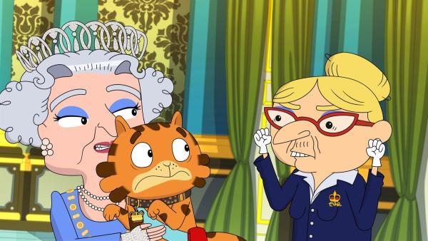 Die Hofdame der Königin mag keine Katzen. | Rechte: WDR/Cyber Group Studios/KD Productions Toons&Games/Televisió de Catalunya