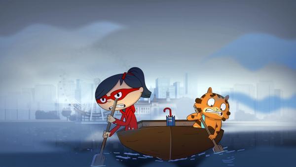 Mirette und Jean Cat auf der Suche nach dem Ungeheuer aus der Themse.  | Rechte: WDR/Cyber Group Studios/KD Productions Toons&Games/Televisió de Catalunya