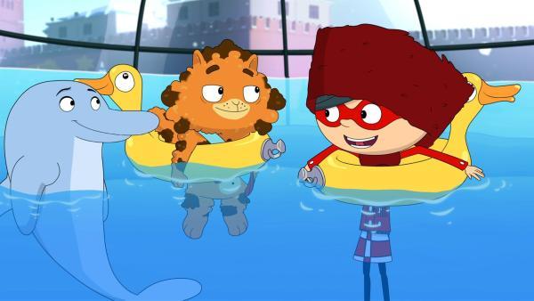 Wer hat aus der Eislaufhalle in Moskau ein Aquarium gemacht?   Rechte: WDR/Cyber Group Studios/KD Productions Toons&Games/Televisió de Catalunya