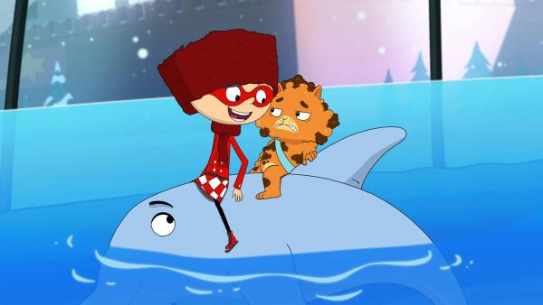 Jean Cat mag nicht im Aquarium des Großen Gefährlichen Gangsters sein. | Rechte: WDR/Cyber Group Studios/KD Productions Toons&Games/Televisió de Catalunya
