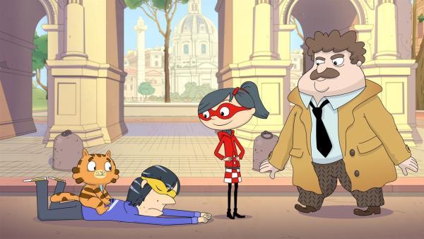 Jean Cat hat den größten und allergefährlichsten Gangster zur Strecke gebracht. | Rechte: WDR/Cyber Group Studios/KD Productions Toons&Games/Televisió de Catalunya