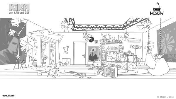 Male Jules Zimmer in deinen Lieblingsfarben aus! | Rechte: KiKA/Safari de Ville/TF1/PGS Entertainment