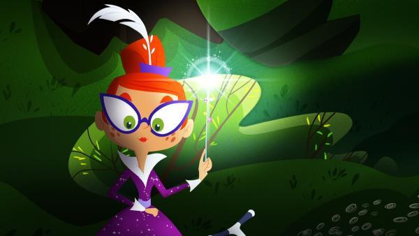 Miss Moon versucht, Licht ins Dunkel zu bringen. | Rechte: KiKA/Safari de Ville/TF1/PGS Entertainment