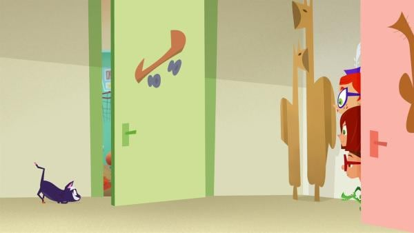 Als Mäusefänger gibt Adalbert keine gute Figur ab. | Rechte: KiKA/Safari de Ville/TF1/PGS Entertainment
