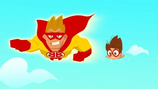 """""""Bommer Boy"""" ist Lukes großer Held.   Rechte: KiKA/Safari de Ville/TF1/PGS Entertainment"""