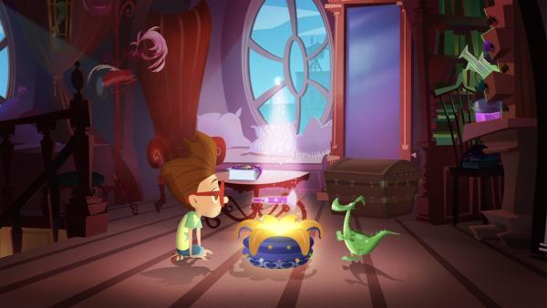 Luke will sich zu seinem Geburtstag seine Mama herbei zaubern. | Rechte: KiKA/Safari de Ville/TF1/PGS Entertainment