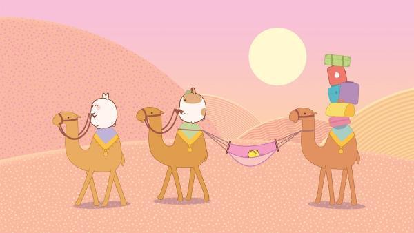 Molang in der Wüste | Rechte: hr/Millimages
