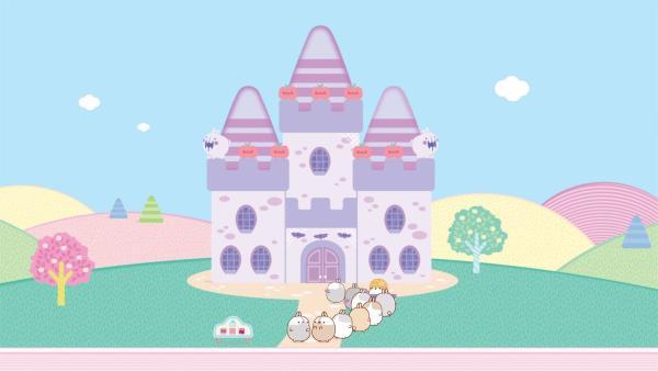Molang und Piu Piu kommen in einem Schlosshotel an, aber dort spukt es! | Rechte: hr/Millimages