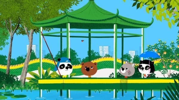Mouk und Chavapa helfen ihrem neuen Freund Bao. Sein Vogel Nin will nicht mehr in seinen Käfig. Ob es den Freunden gelingt, den Vogel wieder in den Käfig zu bekommen? | Rechte: KiKA/Millimages