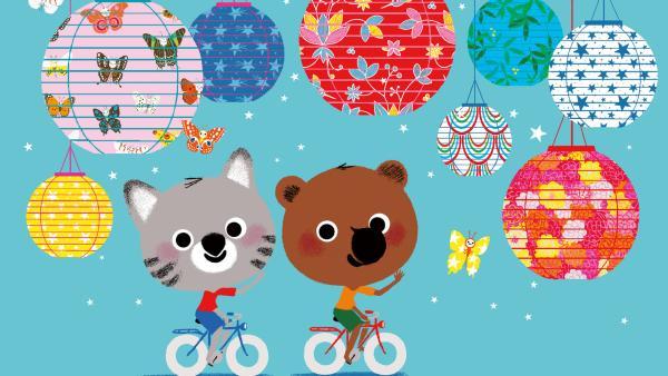 Mouk und Chavapa mit dem Fahrrad durch China | Rechte: KiKA/Millimages
