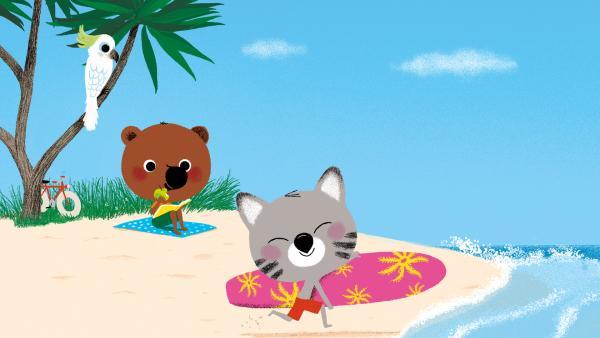 Mouk und Chavapa am Strand von Australien | Rechte: KiKA/Millimages