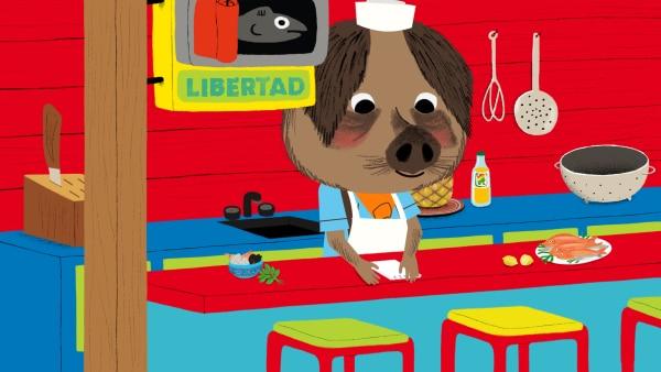 Emilio hat wie immer sehr viel zu tun. Sein Restaurant wird immer beliebter und es kommen mehr und mehr Gäste. | Rechte: KiKA/Millimages