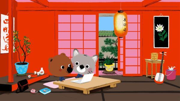 Mouk und Chavapa sind in Tokio. | Rechte: KiKA/Millimages