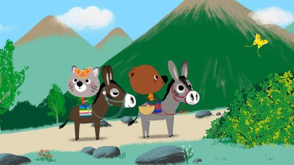 Mouk und Chavapa sind in Peru und bereisen die Anden. | Rechte: KiKA/Millimages