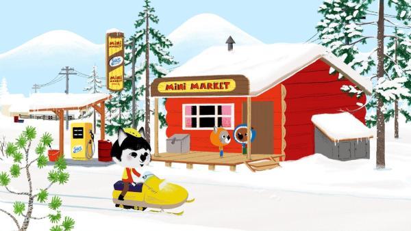 Mouk und Chavapa sind in Lappland unterwegs. | Rechte: KiKA/Millimages