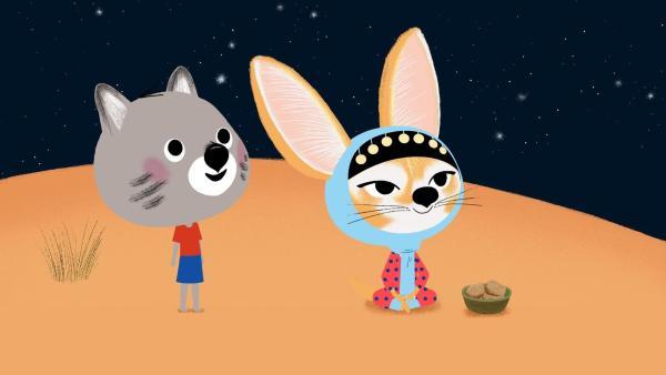 Mouk und Aicha beobachten den Sternenhimmel. | Rechte: KiKA/Millimages