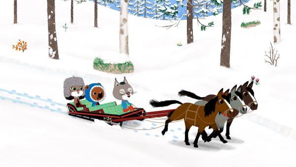 In Russland treffen Mouk und Chavapa ihre Freunde Boris und Tatiana wieder. | Rechte: KiKA/Millimages