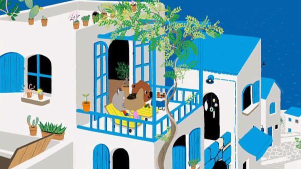Mouk und Chavapa sind auf Kreta bei ihrer Freundin Cassandra eingeladen. | Rechte: KiKA/Millimages