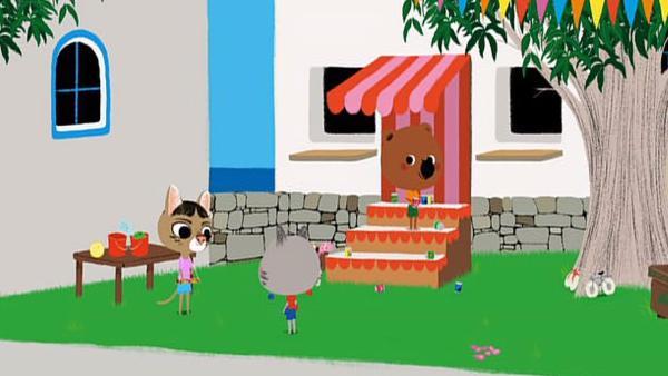 Alles bereitet sich in Cassandras Dorf auf Kreta auf das große Dorffest vor. Cassandra ist sehr nervös, denn sie soll mit ihrem Xylophon ein Lied zur Eröffnung singen. | Rechte: KiKA/Millimages