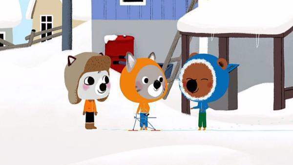 Es liegt viel Schnee in Kanada, als Mouk und Chavapa ihren Freund Amaruk besuchen. | Rechte: KiKA/Millimages