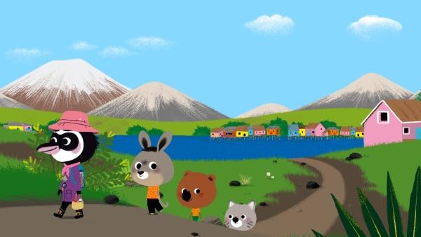 Mit Copiapoa machen sich die drei Freunde auf den Weg zum Gipfel des Vulkans. | Rechte: KiKA/ Millimages